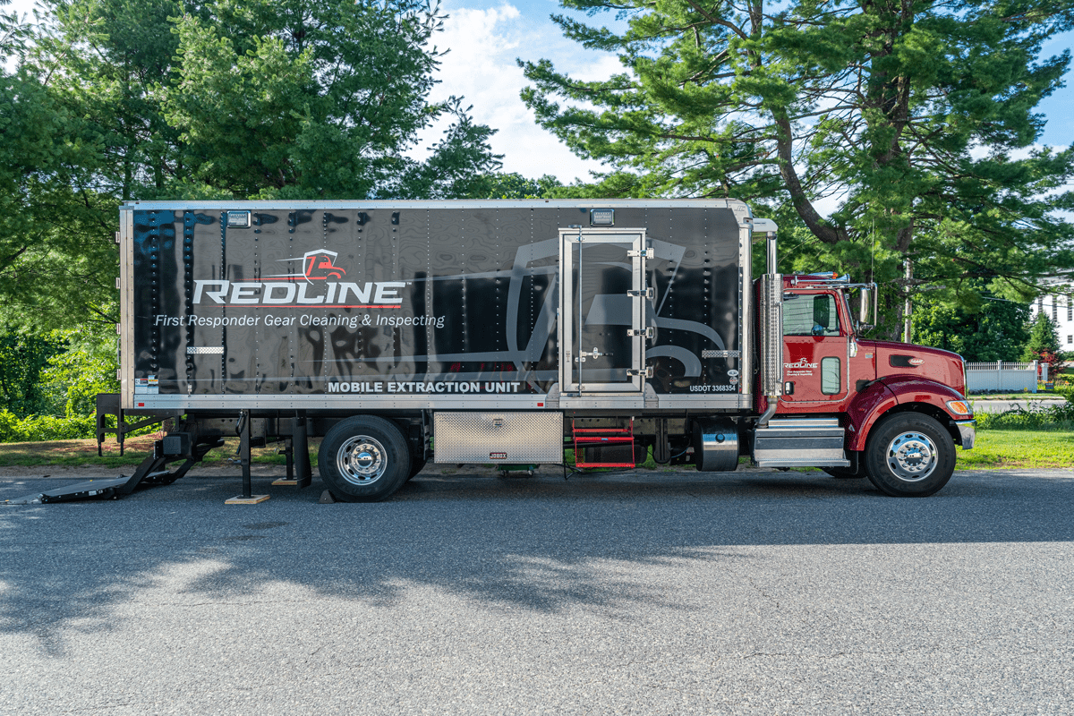 side of RedLine truck
