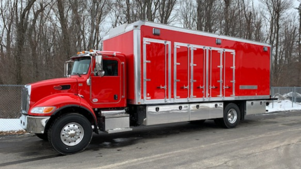 RedLine Gear Cleaning Mobile Extraction Unit parked in lot